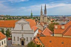 Historische obere Stadt von Zagreb Lizenzfreies Stockfoto