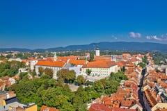 Historische obere Stadt von Zagreb lizenzfreie stockfotos