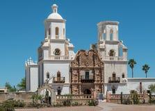 Historische Opdracht San Xavier del Bac in Tucson royalty-vrije stock foto's