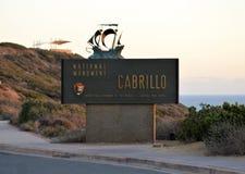 Historische Oriëntatiepunt van Californië van het Cabrillo het Nationale Monument Royalty-vrije Stock Afbeeldingen