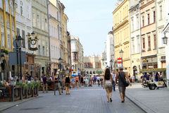 Historische oude centrumstad Krakau in Polen Stock Fotografie