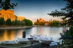 Historische oude stad in de stad van Bydgoszcz, Polen stock afbeeldingen