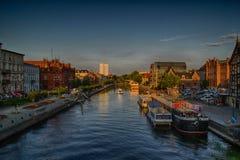 Historische oude stad in de stad van Bydgoszcz, Polen stock foto