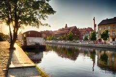 Historische oude stad in de stad van Bydgoszcz, Polen stock foto's