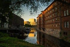 Historische oude stad in de stad van Bydgoszcz, Polen royalty-vrije stock fotografie