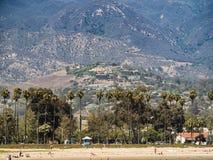 Historische oude stad in Santa Barbara California royalty-vrije stock fotografie