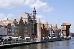 Historische Oude Stad van Gdansk in Polen Stock Afbeeldingen