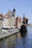 Historische Oude Stad van Gdansk in Polen Royalty-vrije Stock Foto's