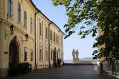 Historische Oude Stad in Veszprem Stock Foto