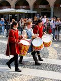 Historische parade in Vigevano Royalty-vrije Stock Foto's