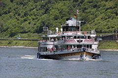 Historische peddelstoomboot Goethe Stock Afbeelding