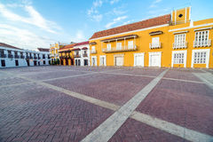 Historische Piazza in Cartagena Lizenzfreie Stockfotos