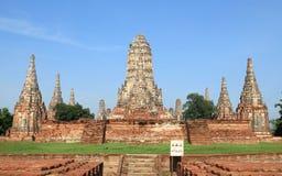 Historische plaats in Ayutthaya, Thailand Stock Foto