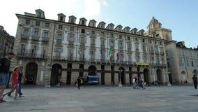 Historische plaats van het Paleis van het Piemonte-Gebied 4k stock video