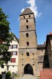 Historische poort aan stad van Ulm Royalty-vrije Stock Fotografie