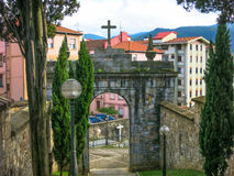 Historische poort Bilbao, Baskisch Land, Spanje Royalty-vrije Stock Fotografie