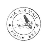 Historische Poststempel-Luftpost Stockfotos