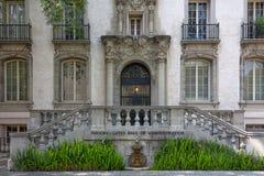Historische predikant-Poorten Zaal op de campus van Caltech in Pasadena Stock Afbeelding
