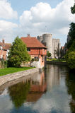 Historische Reflexionen in Canterbury Stockbild