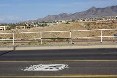 Historische Route 66 stock afbeeldingen