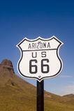 Historische Route 66 teken in Arizona stock afbeeldingen