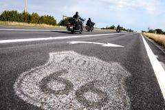 Historische Route 66 Verkeersteken Royalty-vrije Stock Fotografie