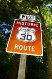 Historische Route de V.S. 30 Royalty-vrije Stock Afbeeldingen