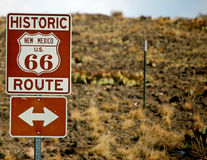 Historische Route 66 Route achtergrond-1 Stock Afbeelding