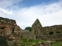 Historische Ruïnes op het Eiland van Iona, Schotland royalty-vrije stock afbeelding