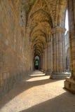 Historische ruïnes van Middeleeuwse Abdij Stock Afbeelding
