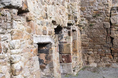 Historische Ruinen Basingwerk-Abtei im Greenfield, nahe Holywell Nord-Wales Stockfoto