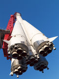 Historische russische Weltraumrakete Ost Stockfotos