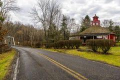 Historische Schule, Gemischtwarenladen u. Post - Fredericktown, Ohio Lizenzfreie Stockfotos