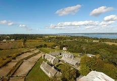 Historische Schuren in Portsmouth, Rhode Island de V.S. Stock Afbeeldingen