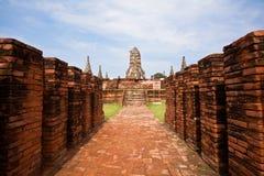 Historische Site von Ayuthaya Lizenzfreie Stockfotografie