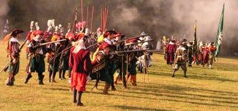 Historische Slag van Witte Berg Stock Foto's