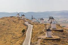 Historische spanische Windmühlen Stockbild