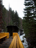 Historische Spoorweg Stock Afbeeldingen