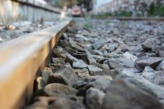 Historische spoorweg, beschimmelde spoorlocomotieven Stock Foto's