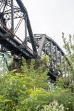 Historische spoorwegbrug stock foto's