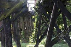 Historische spoorwegbrug Marietta Ohio stock afbeeldingen
