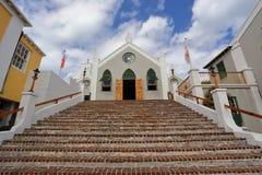 Historische St Peter ` s kerk in St George, de Bermudas stock foto