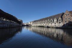 Historische stad Gent in België Stock Foto's