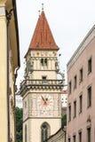 Historische Stad Hall Tower van Passau Stock Afbeeldingen