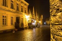 Historische stad meest soest Duitsland in de avond Stock Afbeeldingen