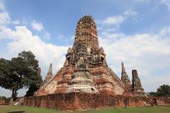 Historische Stad van Ayutthaya - Wat Chai Wattanaram Stock Afbeeldingen