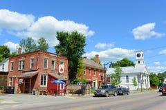 Historische stad van Johnson, Vermont Stock Foto