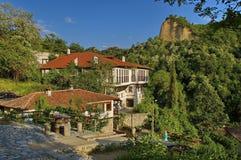 Historische stad van Melnik, Bulgarije Stock Foto