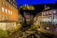 Historische stad van Monschau, Duitsland Stock Foto's