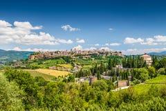 Historische stad van Orvieto, Umbrië, Italië Stock Foto's